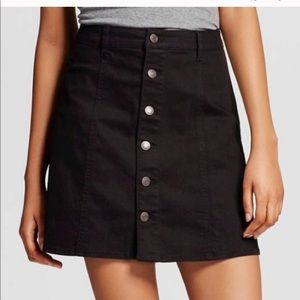 Mossimo Button Front Denim Skirt